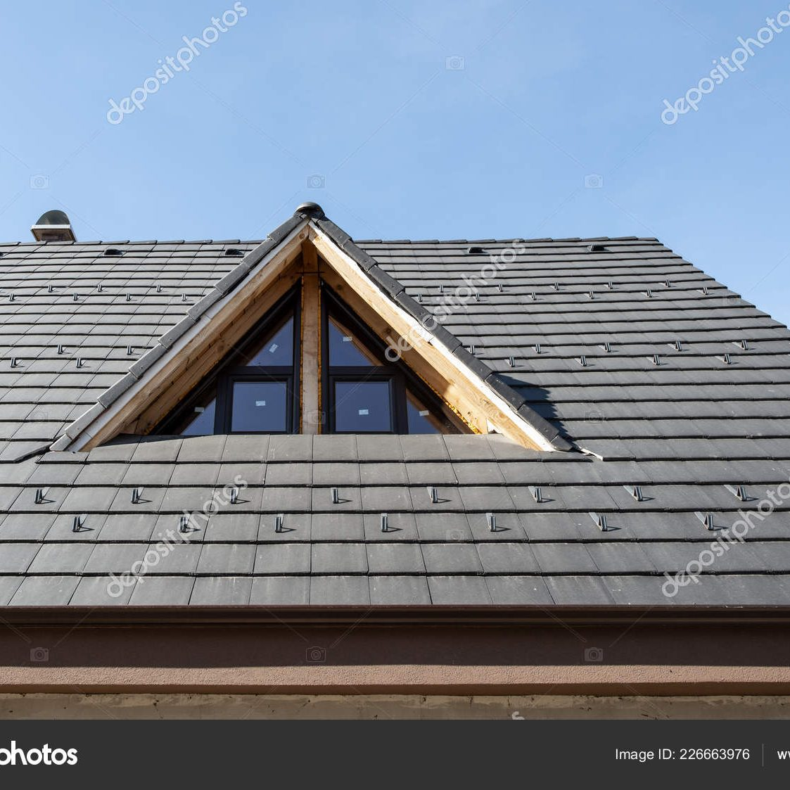New House roof. Building a house